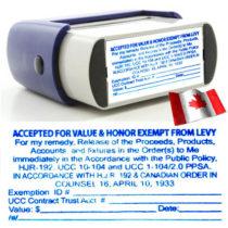AFV Rubber Stamp Image