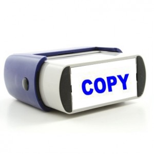 Rubber Stamp Copy Image