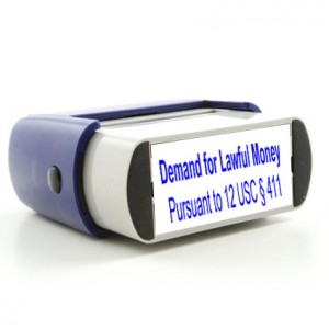 Rubber Stamp Lawful Money Image