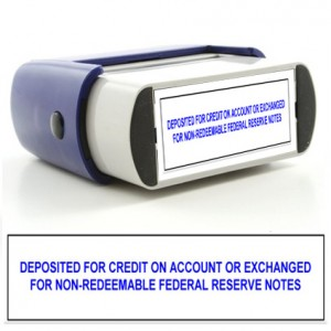 Rubber Stamp Deposit For Credit Image