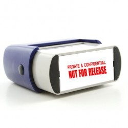 Rubber Stamp Private & Confidential Image