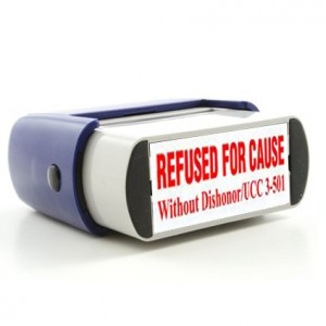 Rubber Stamp For Cause Without Dishonor Image