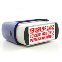 Rubber Stamp Refused For Cause Image