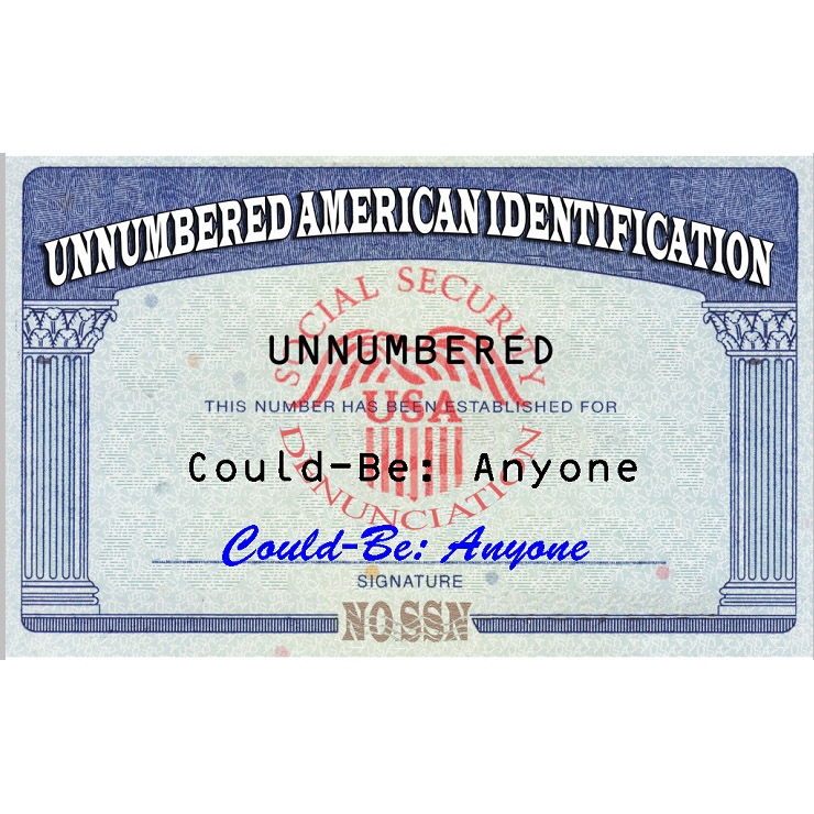 Unnumbered American Identification